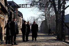 British Prime Minister David Cameron. During the visit in the Nazi concentration camp Auschwitz -- Birkenau. Poland Stock Images