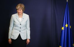 British Prime Minister Teresa May stock photo