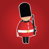 British Queens Guard infantry character. British Queens Guard infantry cute character Royalty Free Stock Image