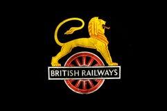 British Railways Logo. British Railways Lion On Wheel logo on a steam locomotive tender Stock Photography