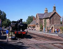British Railways steam train, Highley. Royalty Free Stock Photos