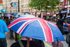 British rain umbrella Stock Photo
