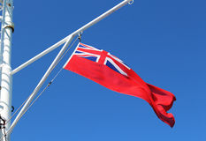 British Red Ensign Merchant Navy Flag Stock Images