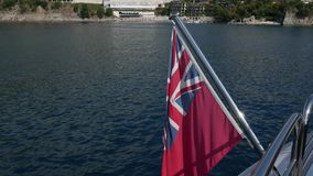 The British Red Ensign. On a yacht in the Adriatic Sea, near Bud stock video