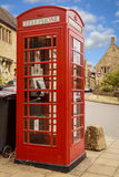 A British red icon. The red telephone box in Chipping Camden, England Royalty Free Stock Images