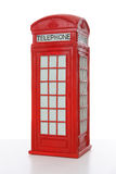 British Red Phone booth. Old British red phone booth isolated on white Stock Photography
