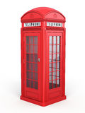 British red phone booth Royalty Free Stock Image