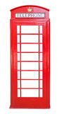 British red phone booth isolated on white. Background Stock Photography