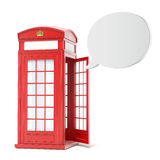 British red phone booth with speech bubble Royalty Free Stock Photo