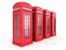 British red phone booths Stock Photography