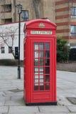 British Red PhoneBox Photobooth London England. Empty British Red PhoneBox Photobooth London England Royalty Free Stock Image