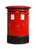 British red post box. Isolated on a white background Stock Photo