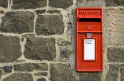British red post box. British red postbox, letter box, symbol Royalty Free Stock Image