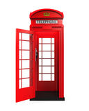 British Red Telephone Booth Stock Image
