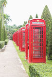 British red telephone booth Royalty Free Stock Photography