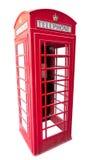 British red telephone box isolated on white Stock Photography