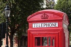 British red telephone box, London, UK Royalty Free Stock Photography