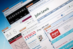 British retailers web sites Stock Images
