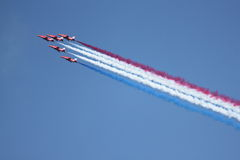 British Royal Air Force Red Arrows Display Team royalty free stock photos