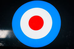 British  Royal Air Force Roundel. 2nd World War British Roundel on Halifax Bomber RAF Royalty Free Stock Images