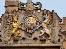 British royal coat of arms Royalty Free Stock Photo