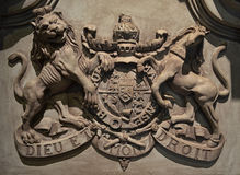 British Royal Coat of Arms 18th century Stock Photography