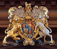British royal coat of arms. From the time of Queen Elizabeth I Stock Photo