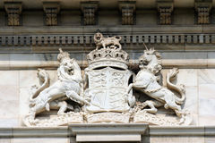 British royal coat of arms on the Victoria Memorial in Kolkata Royalty Free Stock Photography