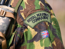British Royal Commando. British Royal Marines Commando Badges Royalty Free Stock Image