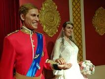 British Royal Family wax statue Royalty Free Stock Photos