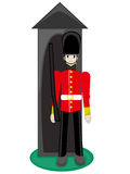 British Royal Guard. Royal Guard standing at ready in cuteville stock illustration