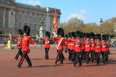 British Royal Guard Marching Royalty Free Stock Images