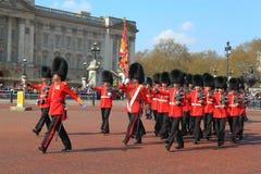 British Royal Guard Marching Royalty Free Stock Images