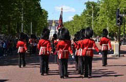 British Royal Guards Buckingham Palace Royalty Free Stock Photos