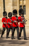 British royal guards marching Stock Photos