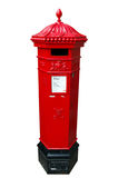 A British, Royal Mail postbox, isolated. On white stock photos