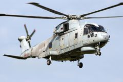 British Royal Navy Merlin helicopter Royalty Free Stock Photos