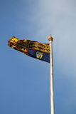 British royal standard flag on flagpole Royalty Free Stock Images