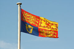 British royal standard flag on flagpole Royalty Free Stock Photos