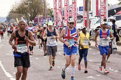 British Runner Competing in Comrades Ultra Marathon Royalty Free Stock Photo