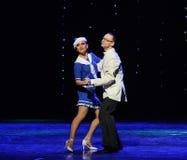 The British sailors dance-Retro dance-the Austria's world Dance Stock Photo
