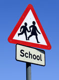 British School roadside sign. Stock Photography