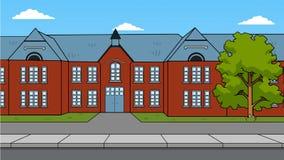 British school vector illustration Stock Image