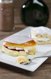 British Scone and Cream Bun Royalty Free Stock Photos