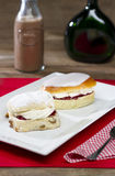 British Scone and Cream Bun Royalty Free Stock Image