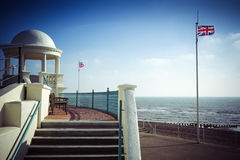 British seaside scene at Bexhill on Sea in Sussex Royalty Free Stock Photos