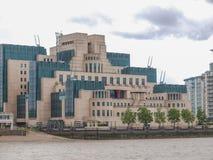 British Secret Service buidling. SIS MI6 headquarters of British Secret Intelligence Service at Vauxhall Cross London Stock Image