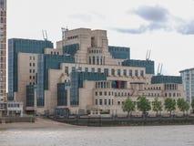 British Secret Service buidling. SIS MI6 headquarters of British Secret Intelligence Service at Vauxhall Cross London Stock Photos