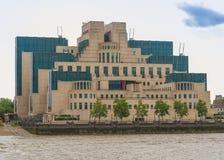 British Secret Service buidling. SIS MI6 headquarters of British Secret Intelligence Service at Vauxhall Cross London Stock Images