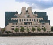 British Secret Service buidling. SIS MI6 headquarters of British Secret Intelligence Service at Vauxhall Cross London Royalty Free Stock Images